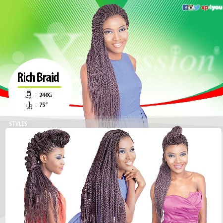 Xpression Rich Braids 240g